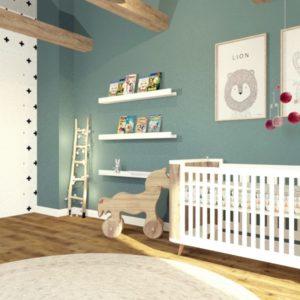 Pokój dziecięcy pod skosami