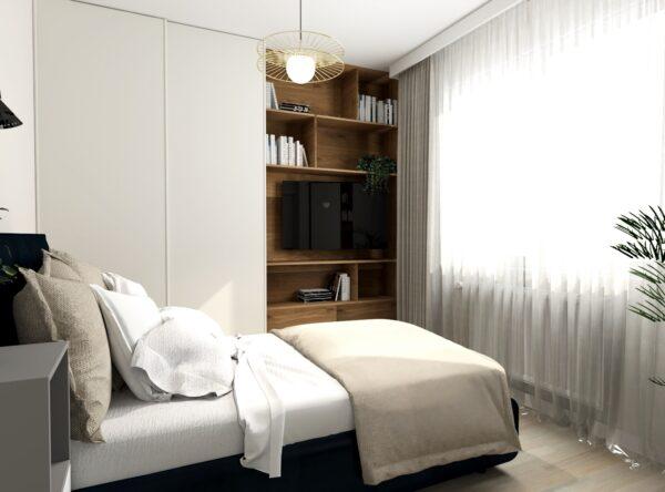 Sypialnia z dużą ilością szaf